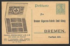 German Reich covers 5Pf Germania Advertising PC SIGARS not sent  Not Common