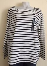 NEW WOMENS SIZE XXL 2XLARGE GAP  STRIPED TOP LONG SLEEVES NWT
