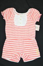 NWT Juicy Couture Terry Cloth Striped Romper Infant Girl 6-12M