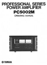 Yamaha PC-5002-M Amplifier Owners Manual