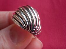 David Yurman Sterling Silver 925 Dome Sculpted Cable Ring Size 6.25
