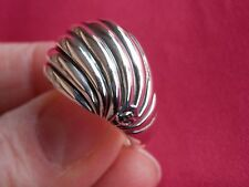 David Yurman Sterling Silver 925 Dome Sculpted Cable Ring Size 7.75