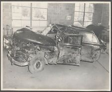 Vintage Photo 1949 Plymouth Car Wreck in Garage Carlisle PA 585523
