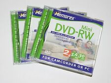 Lot Of 3 Memorex Mini DVD-R NEW For Camcorder Or PC