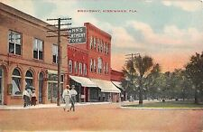 c.1910 Stores Broadway Kissimmee FL post card