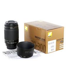 Nikon AF Zoom Nikkor 70-300mm f/4-5.6 G lens 70 300 mm + Nikon warranty