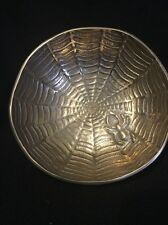 SPIDER AND SPIDER WEB Metal Bowl - Made in India - Unique Color