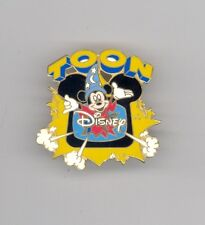 Disney Toon Channel Sorcerer Mickey Mouse Bursting from Television TV Pin HTF