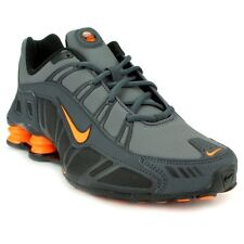 NIKE MEN SHOX TURBO 3.2 SL RUNNING SHOES SIZE 11.5 NEW GRAY ORANGE 455541-080