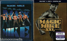 Magic Mike 1 & 2 BLU-RAY Lot XXL Channing Tatum Joe Manganiello 2 movie set NEW