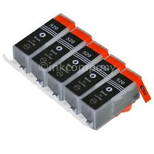 5 cartucce per Canon + Chip pgi-520 MP 640 MX 860 MX 870 MP 620 ip3600