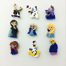 Anna Elsa Olaf  Shoe Charms Accessories for Bracelets/Bands/Croc/Jibbitz 9PCS