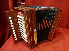 NEW Beltuna Diatonic Button Accordion Cajun Padauk Key of G LMMH 2 Made in Italy