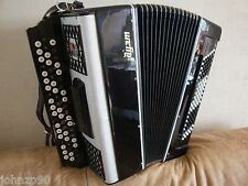 #153 BAYAN CONVERTER FREE BASS CONCERT DUET ДУЭТ Button ACCORDION 120 58 Vologda