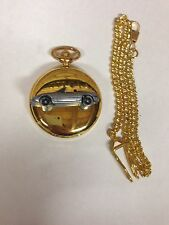 Mazda MX 5 (Miata) LHD ref122 pewter effect emblem gold quartz pocket watch
