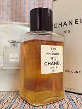 Vintage RARE 1960-70s CHANEL No 5 Eau de Cologne 2 oz 60 ml Splash - OLD FORMULA
