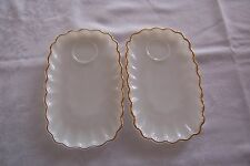 Vintage Snack Plates Anchor Hocking Fire King Rachel in Classic Milk Glass