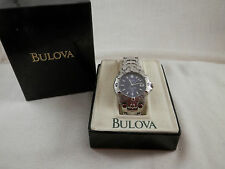 Bulova Marine Star watch 100M Stainless Steel 7""