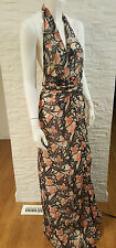 Winter Kate Floral Maxi Dress NRD188 Size S Small 100% Silk