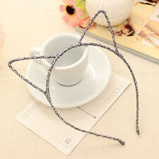 Sexy Women Girls Attractive Crystal Cat Ear HeadBand Hair Band With Faux Pearl