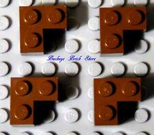 Lego Lot/4 BROWN CORNER BRICK 2x2 7194 1380 7144 4727 7419 4476 7128 - Bricks