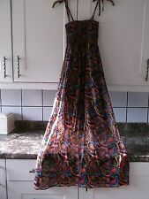 NEW XSMALL MULTI COLOURED SHIMMERY EFFECT MAXI DRESS
