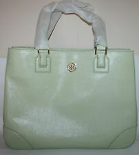 $575 NWT TORY BURCH ROBINSON LEATHER EAST-TO-WEST TOTE HANDBAG LARGE