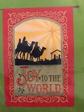 "Joy to the World Christmas Large Porch Flag 28"" x 40"" 26-2690-50"