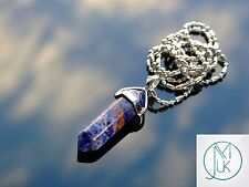 Sodalite Crystal Point Pendant Natural Gemstone Necklace Healing Stone Chakra