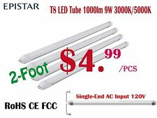 4 PCS LED T8 Tube Lights,EPISTAR CHIPS,950lm 9W 2Ft
