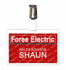 Shaun of the Dead Foree Electric ID Badge Card Cosplay Prop Comic Con Halloween