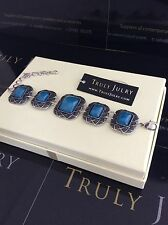 Luxurious Designer Celtic Style Silver & Blue  Bracelet  - Gift Packaged