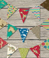 DINOSAURS BUNTING CHILDRENS PLAY ROOM / BEDROOM / BIRTHDAY-18 FLAGS!! -DINOSAURS