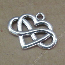 10pc Charms Heart Infinity Friendship Pendant Beads Jewellery Making P751B