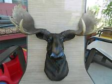 MOOSE HEAD WALL MOUNT EMPEROR LODGE LOG CABIN RUSTIC HUNTING TROPHY