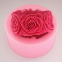 Mold Round Rose Flowers Candle Molds Soap Silicone Mould For Candy Craft pink