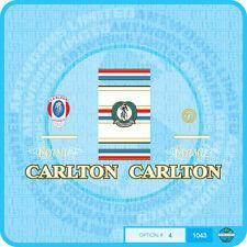 Carlton Corsa Bicicletta Decalcomanie-Trasferimenti-Adesivi-Set 4