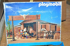 1987 Playmobil Western Silver Ranch #3768 in Box + Extra Motorcycles and People