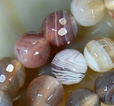 """6mm Faceted Natural Persian Gulf Agate Round Beads 15"""""""