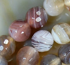 6mm Faceted Natural Persian Gulf Agate Round Beads 15""