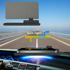 "H6 6"" Screen Car HUD Head Up Display Projector Phone Navigation GPS Holder"