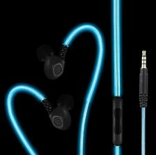 BriteFit Rechargeable Glowing Fitness Headphone Earphones 3.5mm Jack Builtin Mic