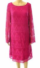 LAUNDRY BY DESIGN PANAMA SHEATH LACE COCKTAIL DRESS PINK SIZE 10 NEW! $138