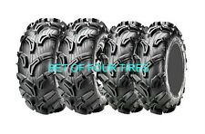 FOUR MAXXIS ZILLA 6 PLY ATV TIRES 25x8-12 /  25x10-12 SET YAMAHA RHINO GRIZZLY