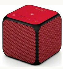 SONY SRS-X11R Portable Wireless Speaker Bluetooth NFC Aux In USB Microphone Red