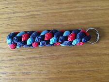 Help For Heroes Inspired Colour Paracord 550 Keyring lanyard Twist