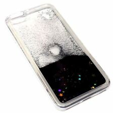 For iPhone 6S PLUS Black Glitter Gold Stars Sparkle Liquid Water Quicksand Case