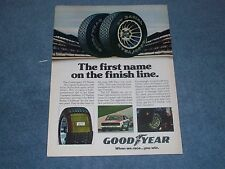 "1978 Goodyear Radial Vintage Tire Ad ""The First Name on the Finish Line"""