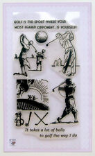 Golf on sunset ~ clear stamps set vintage FLONZ 161 rubber acrylic