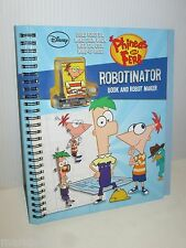 DISNEY PHINEAS AND FERB SPIRAL BOOK WIND UP ROBOT MAKER ROBOTINATOR